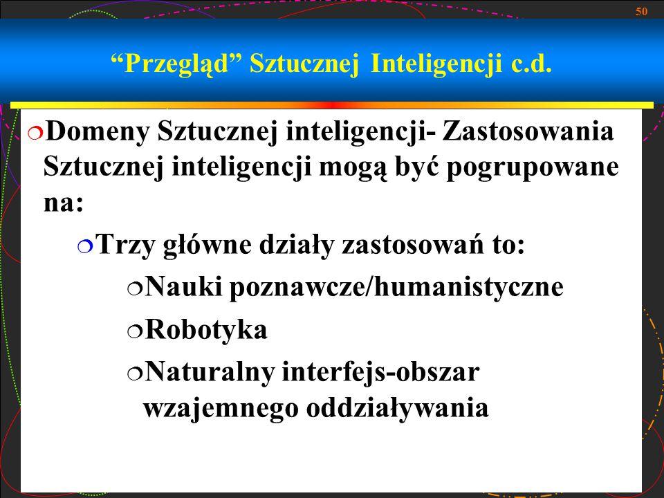 Przegląd Sztucznej Inteligencji c.d.
