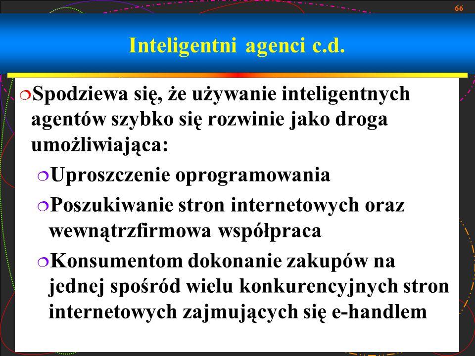 Inteligentni agenci c.d.