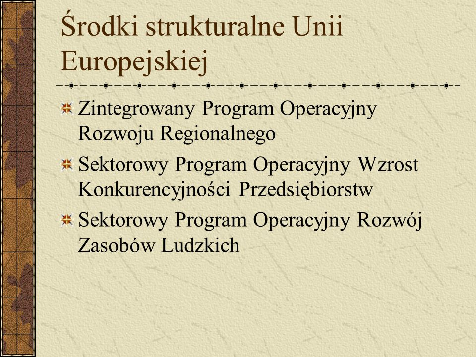 Środki strukturalne Unii Europejskiej