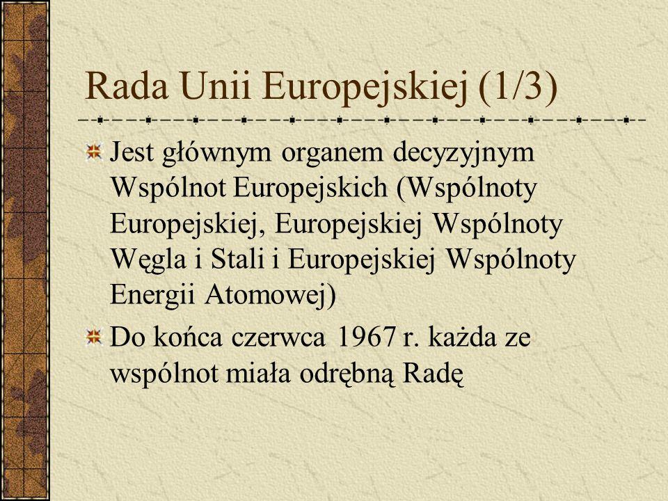Rada Unii Europejskiej (1/3)