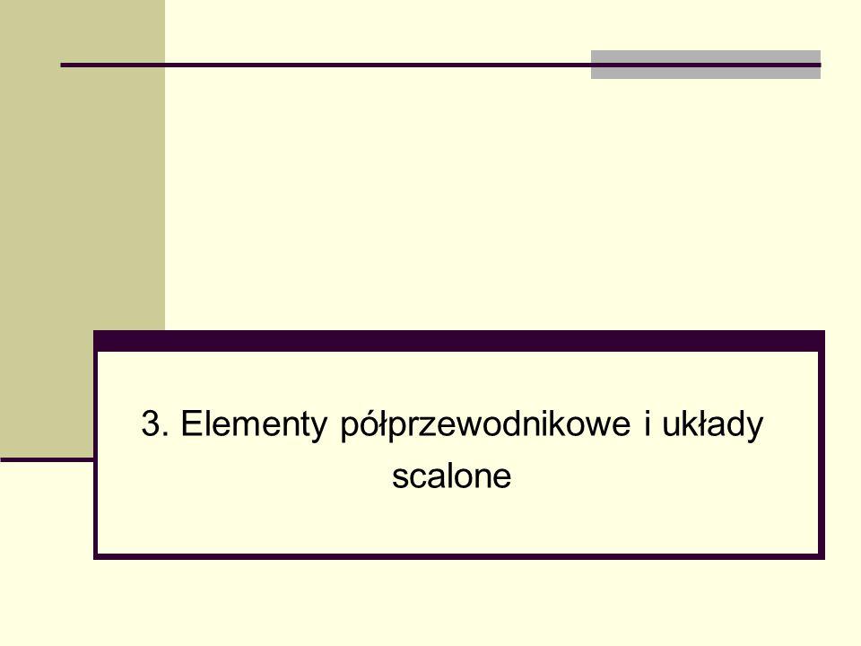 3. Elementy półprzewodnikowe i układy scalone