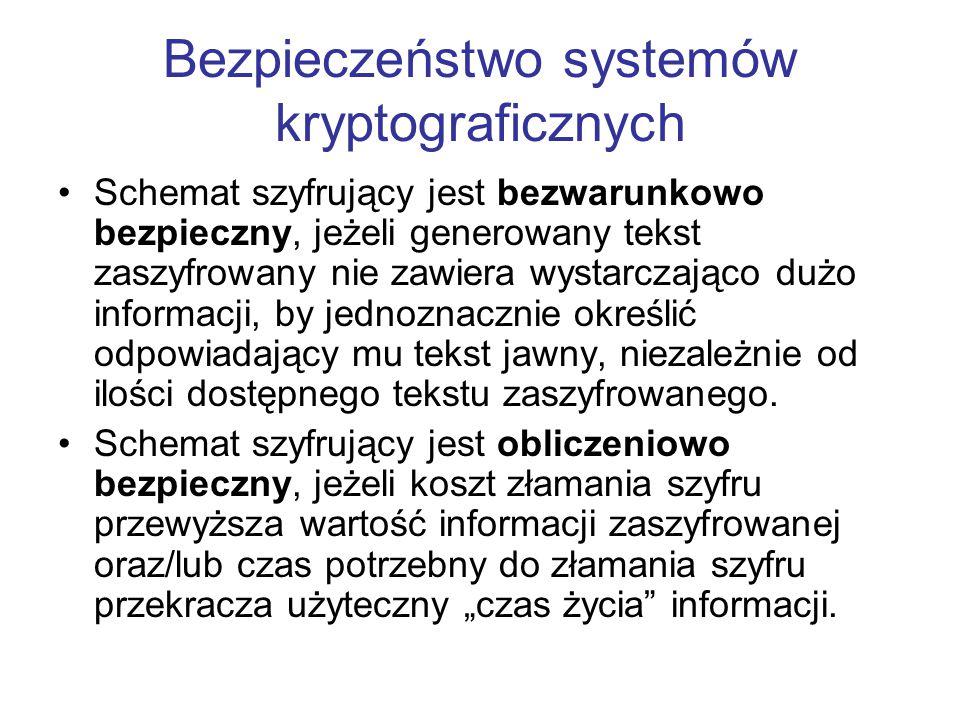 Bezpieczeństwo systemów kryptograficznych