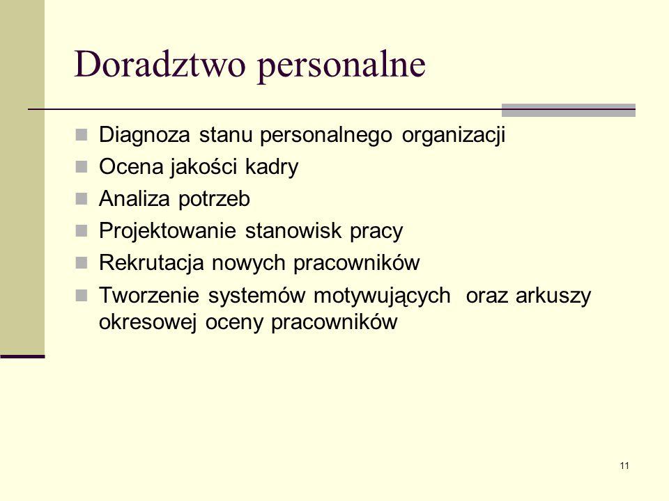 Doradztwo personalne Diagnoza stanu personalnego organizacji