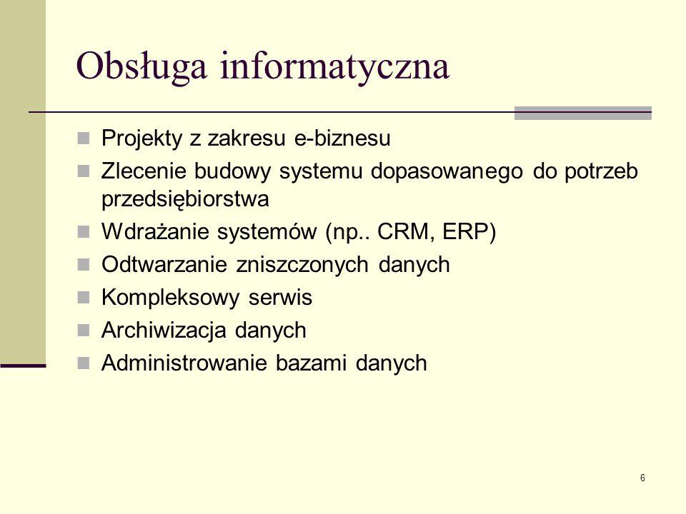 Obsługa informatyczna