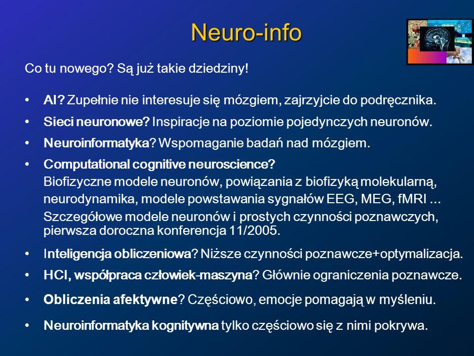 Neuro-info Co tu nowego Są już takie dziedziny!
