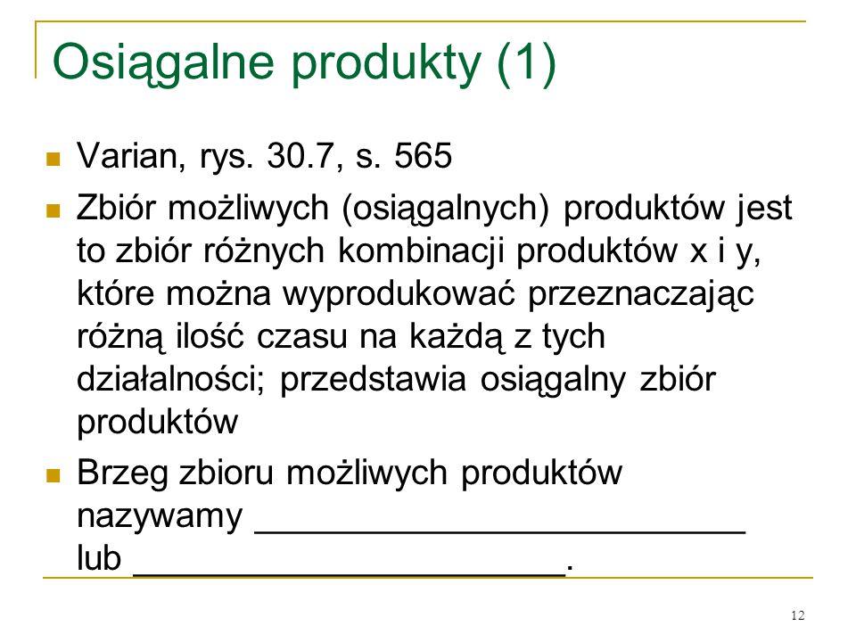 Osiągalne produkty (1) Varian, rys. 30.7, s. 565