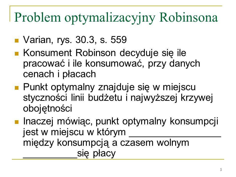 Problem optymalizacyjny Robinsona