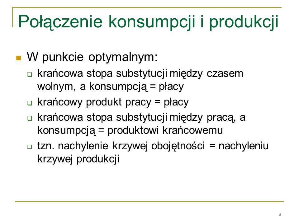 Połączenie konsumpcji i produkcji