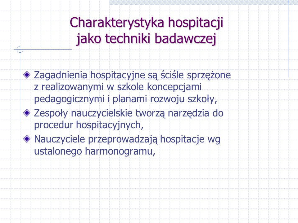 Charakterystyka hospitacji jako techniki badawczej