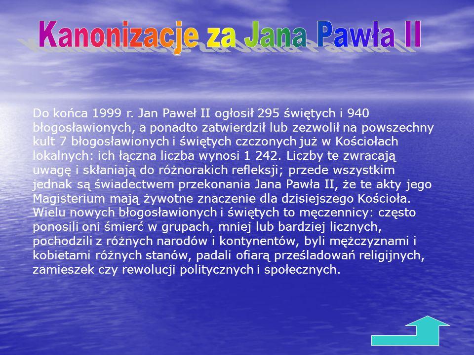 Kanonizacje za Jana Pawła II