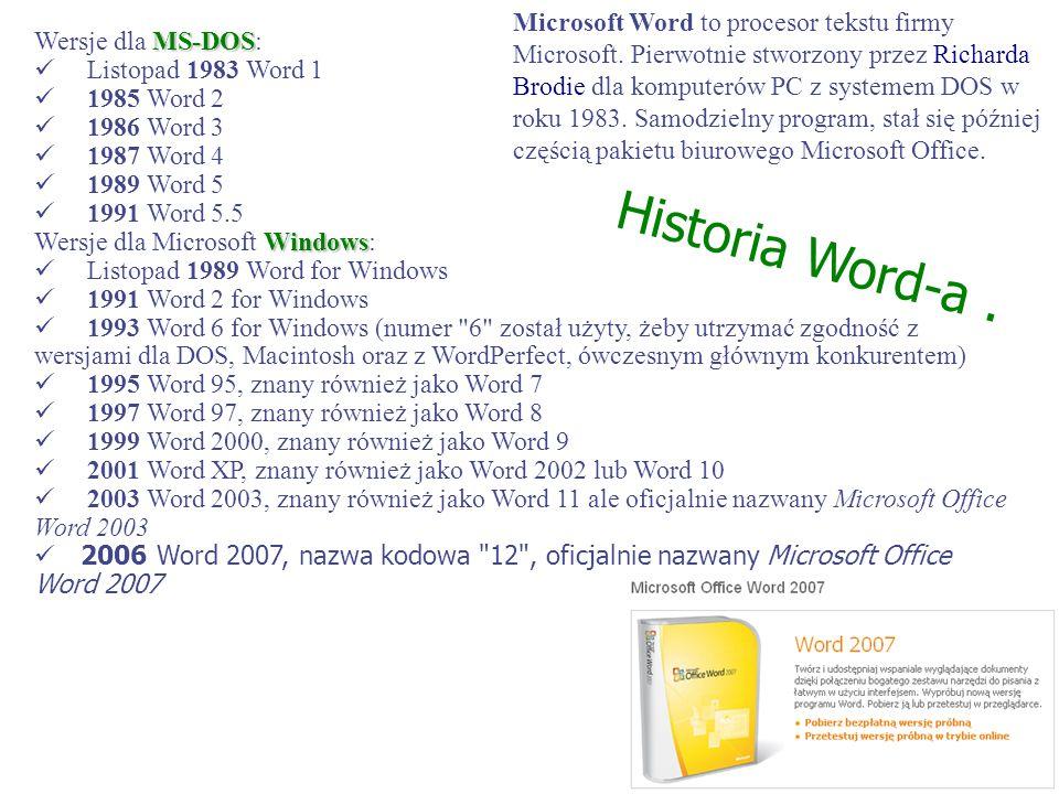 Microsoft Word to procesor tekstu firmy Microsoft