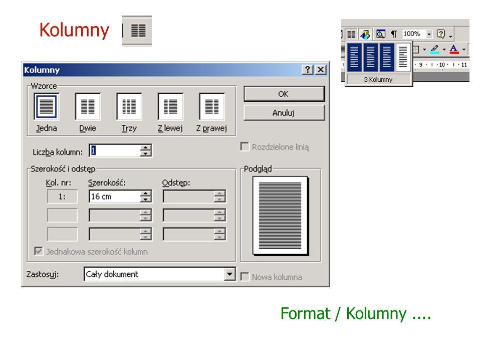Kolumny Format / Kolumny ....