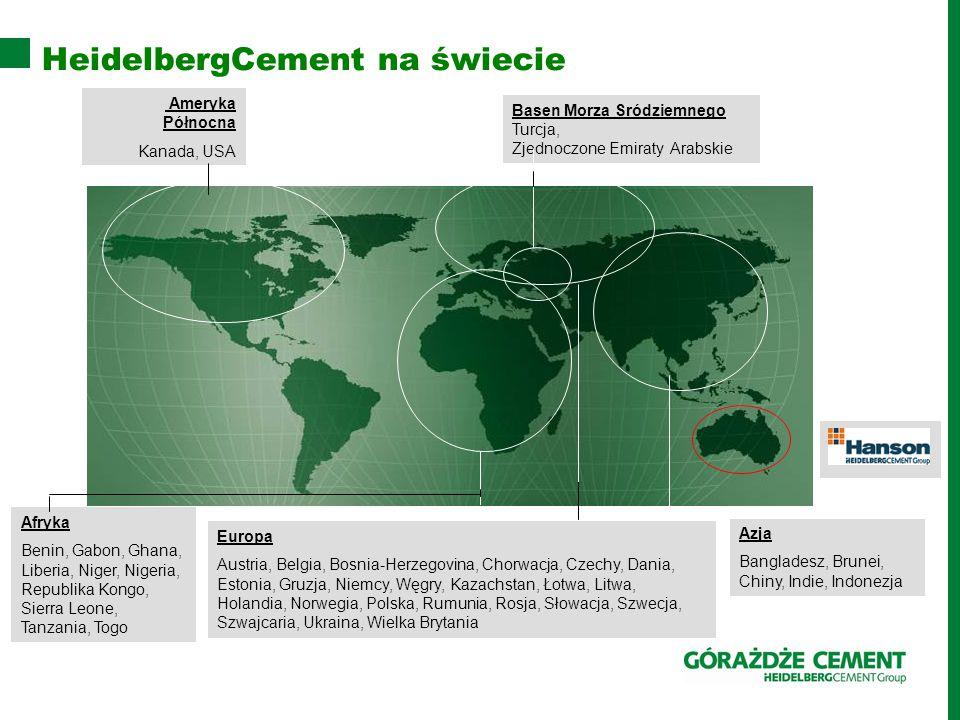 HeidelbergCement na świecie