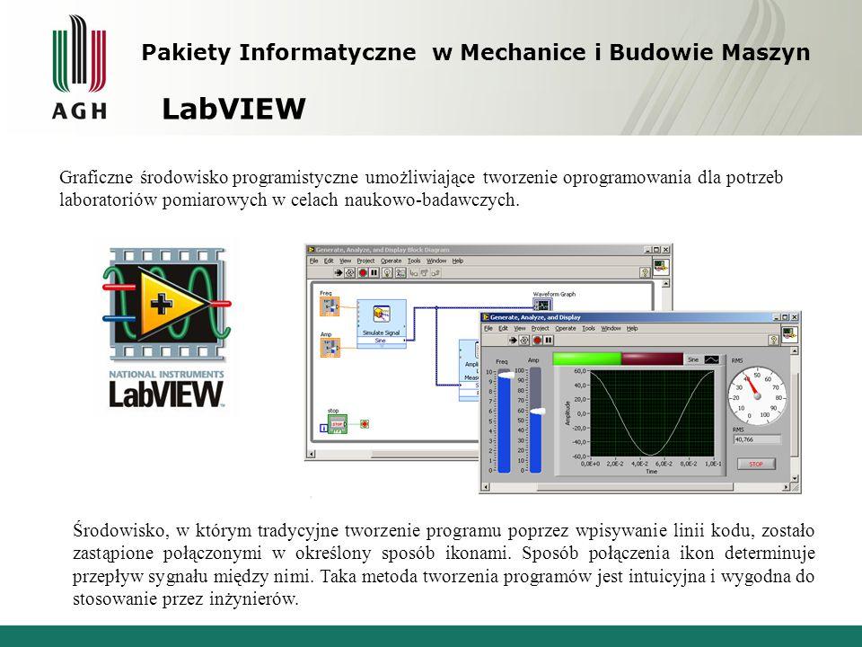LabVIEW Pakiety Informatyczne w Mechanice i Budowie Maszyn