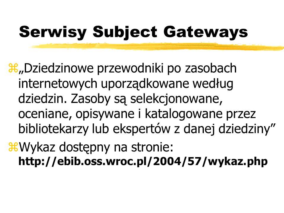 Serwisy Subject Gateways