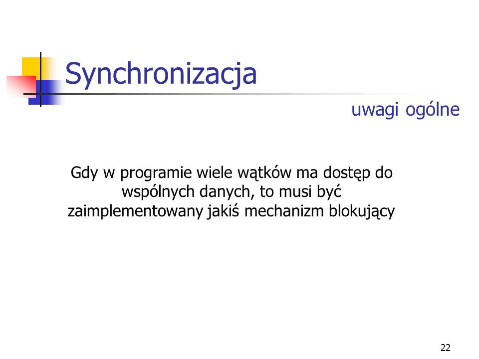 Synchronizacja uwagi ogólne