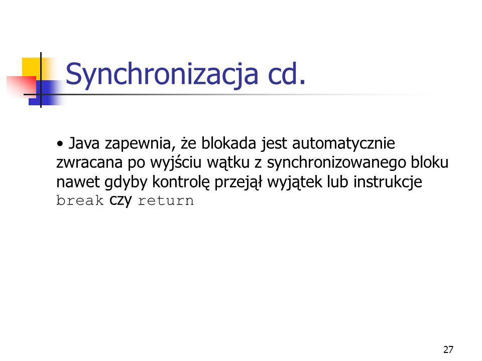 Synchronizacja cd.