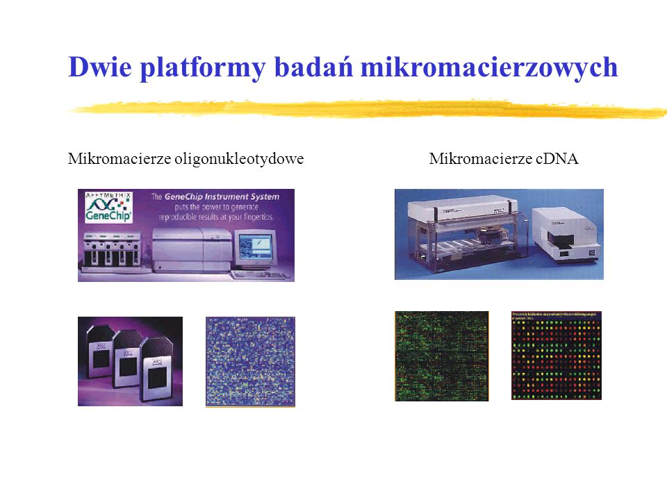 Dwie platformy badań mikromacierzowych