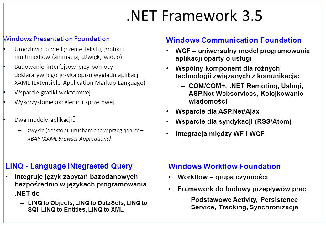 .NET Framework 3.5 Windows Presentation Foundation