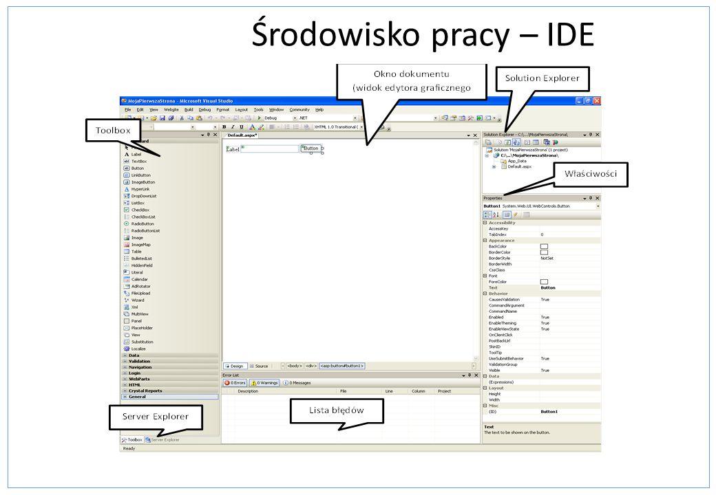 Środowisko pracy – IDE Ulepszenia VS2008 Multi-targeting