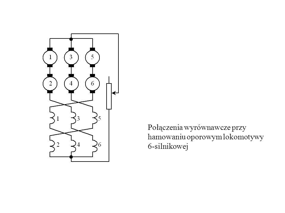 Połączenia wyrównawcze przy hamowaniu oporowym lokomotywy 6-silnikowej
