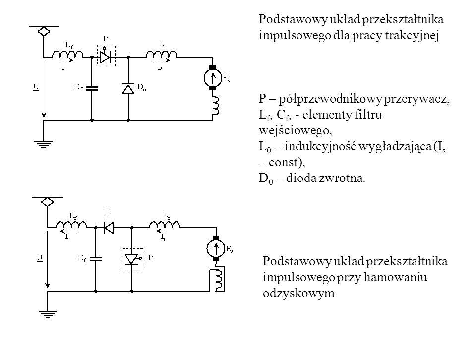 Podstawowy układ przekształtnika impulsowego dla pracy trakcyjnej