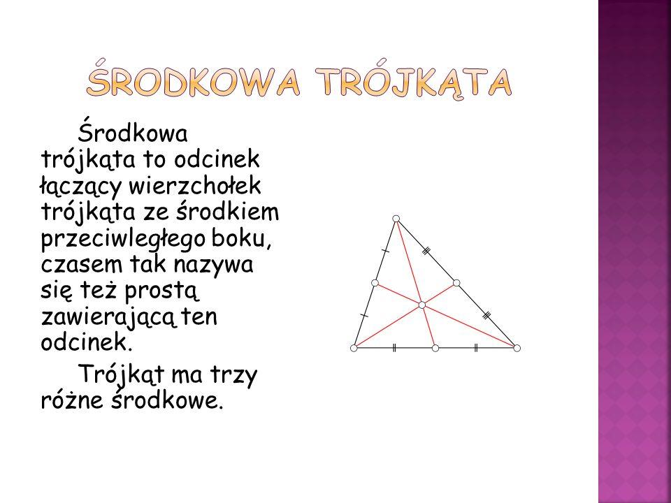Środkowa trójkąta