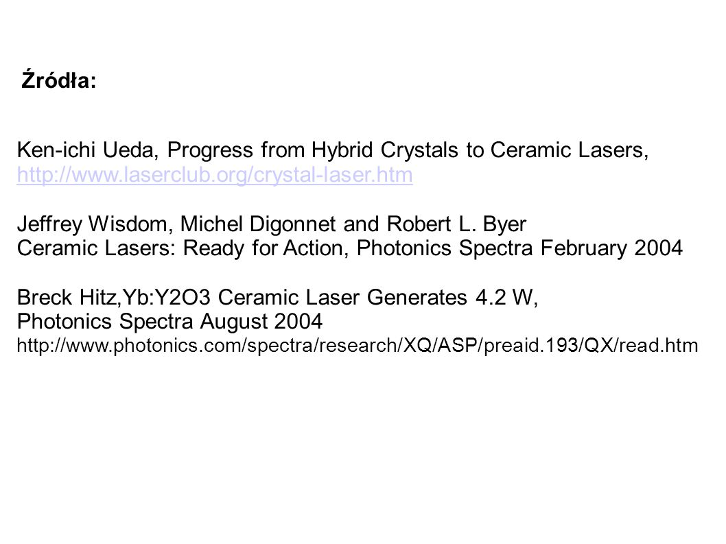 Ken-ichi Ueda, Progress from Hybrid Crystals to Ceramic Lasers,