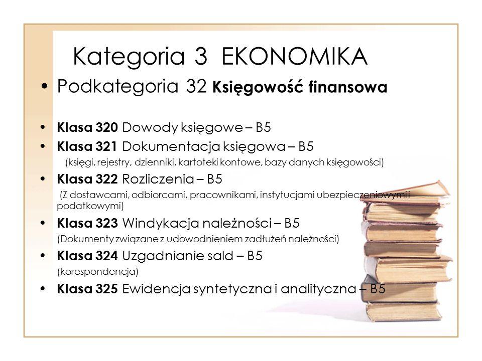 Kategoria 3 EKONOMIKA Podkategoria 32 Księgowość finansowa