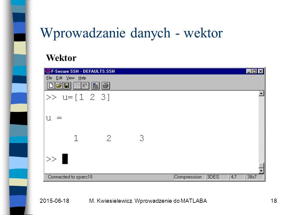 Wprowadzanie danych - wektor