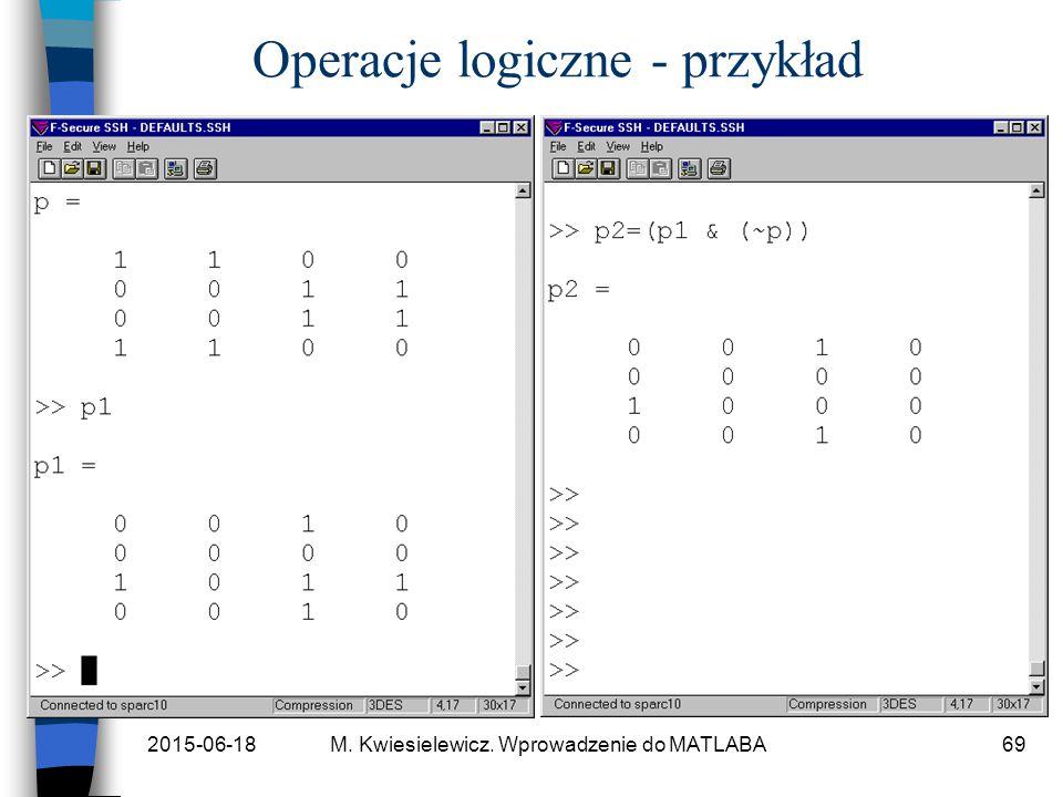 Operacje logiczne - przykład