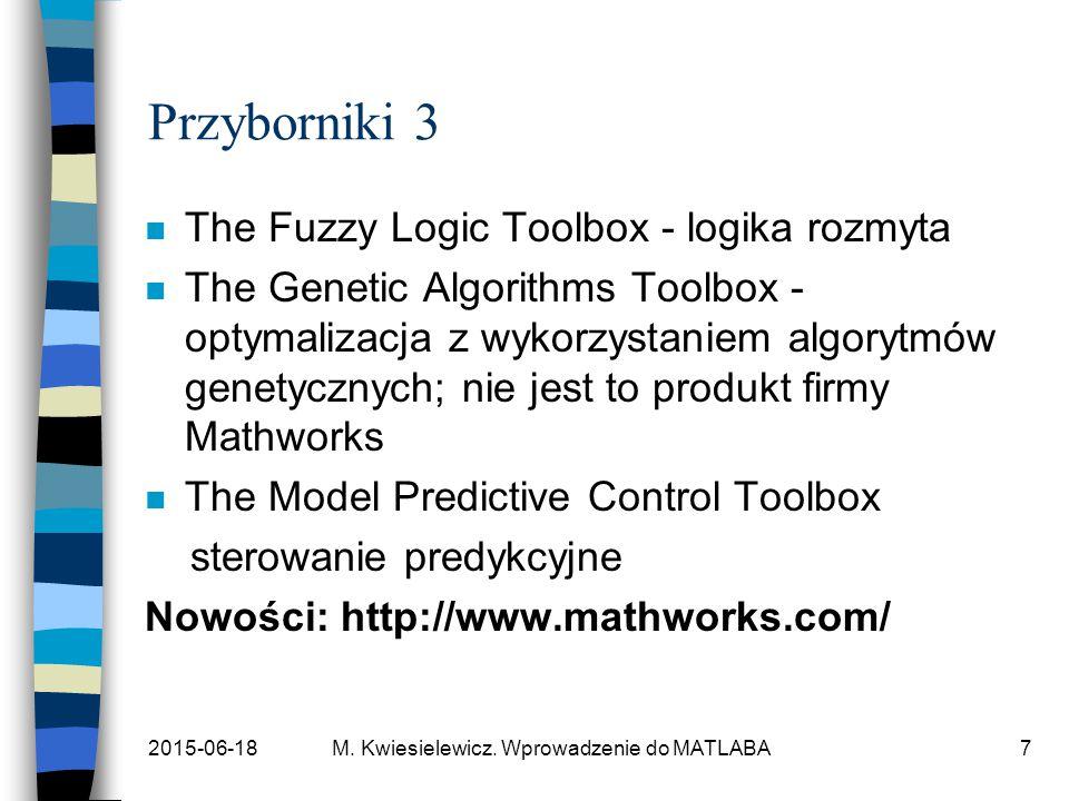 Przyborniki 3 The Fuzzy Logic Toolbox - logika rozmyta