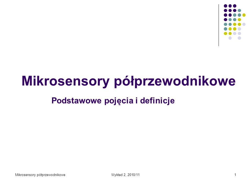 Mikrosensory półprzewodnikowe