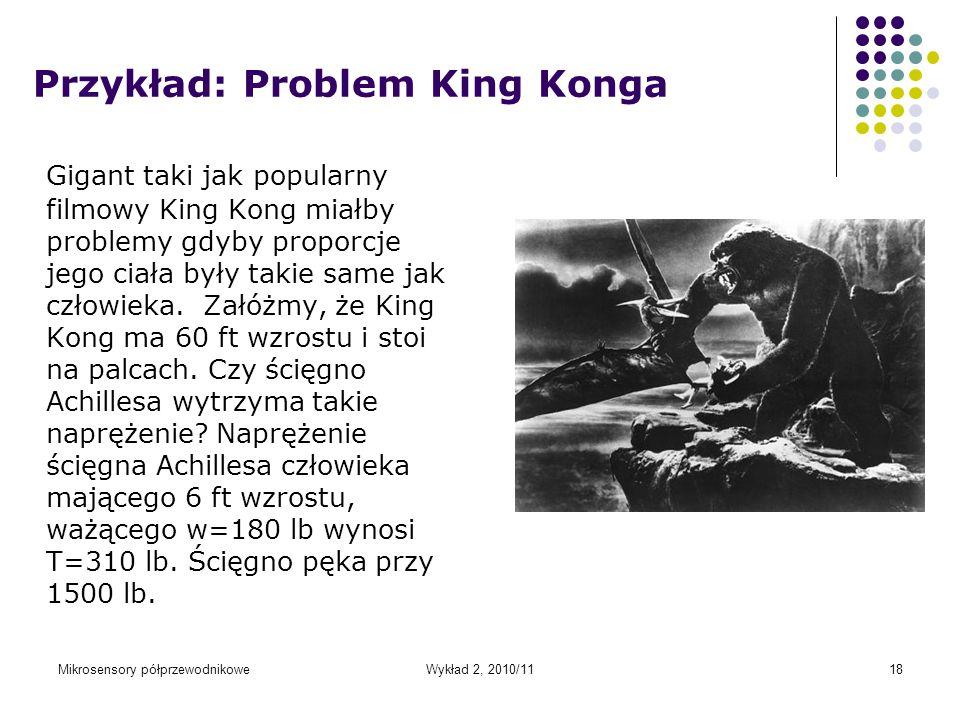 Przykład: Problem King Konga
