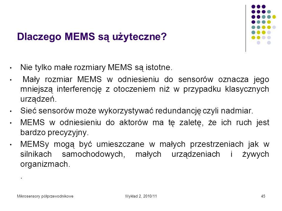 Dlaczego MEMS są użyteczne
