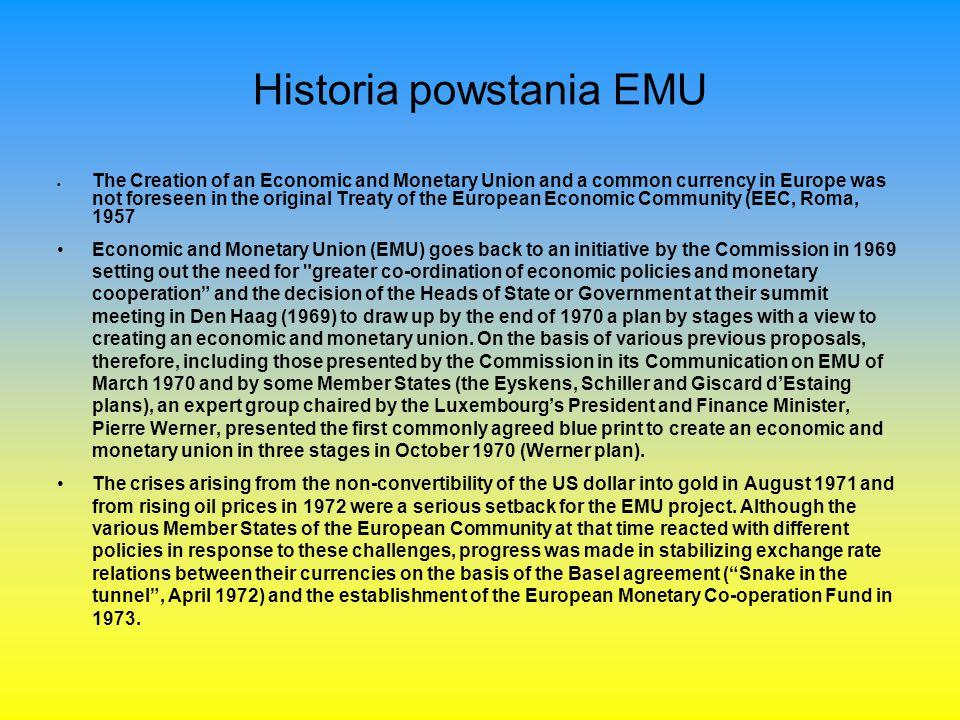 Historia powstania EMU