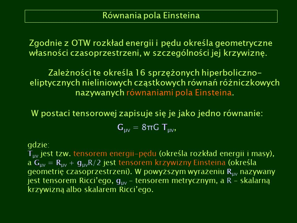 Równania pola Einsteina