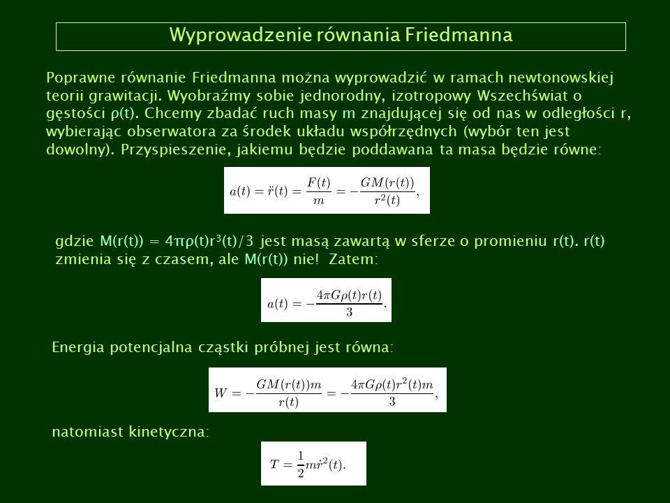 Wyprowadzenie równania Friedmanna