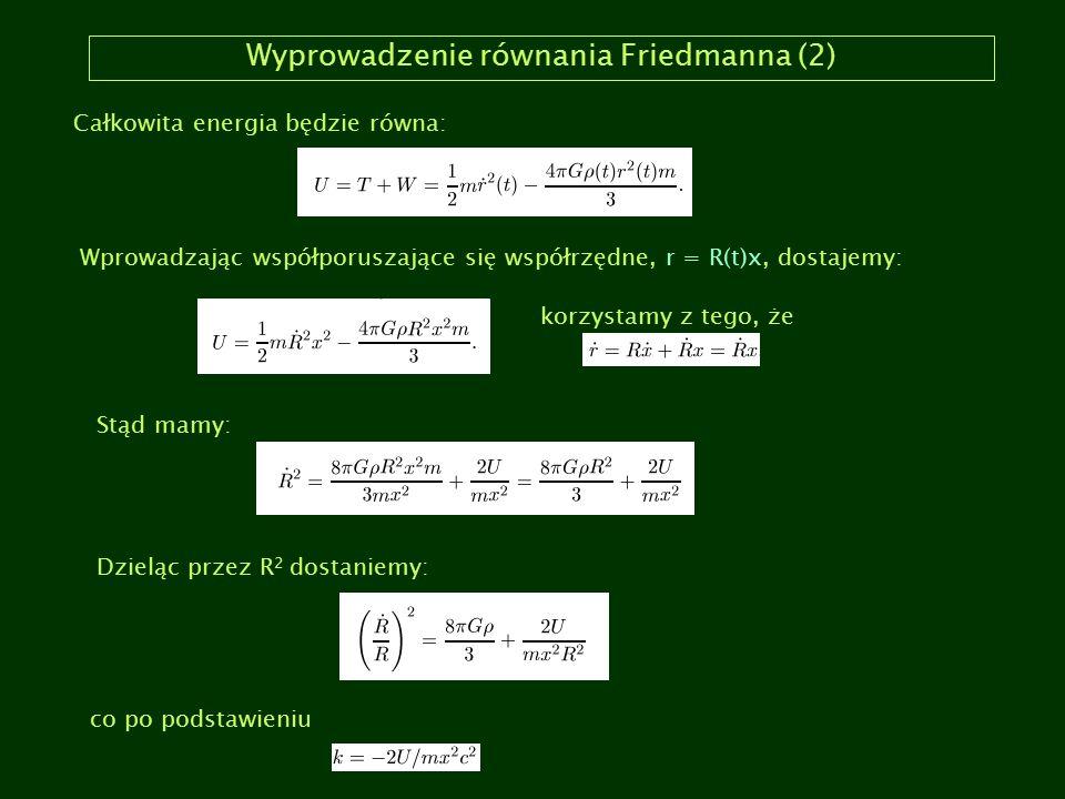 Wyprowadzenie równania Friedmanna (2)