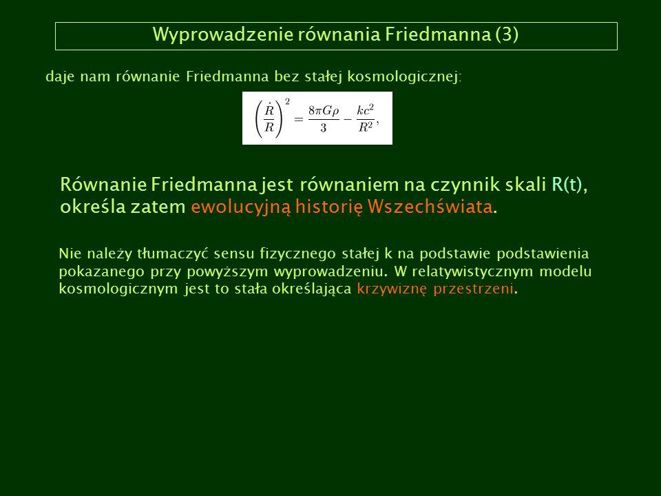 Wyprowadzenie równania Friedmanna (3)