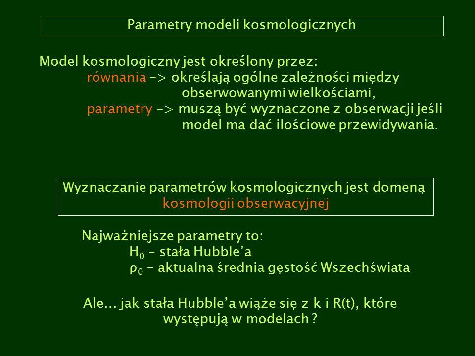 Parametry modeli kosmologicznych