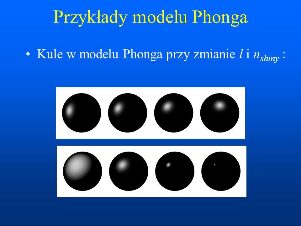 Przykłady modelu Phonga