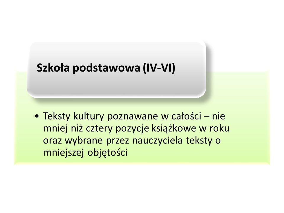 Szkoła podstawowa (IV-VI)