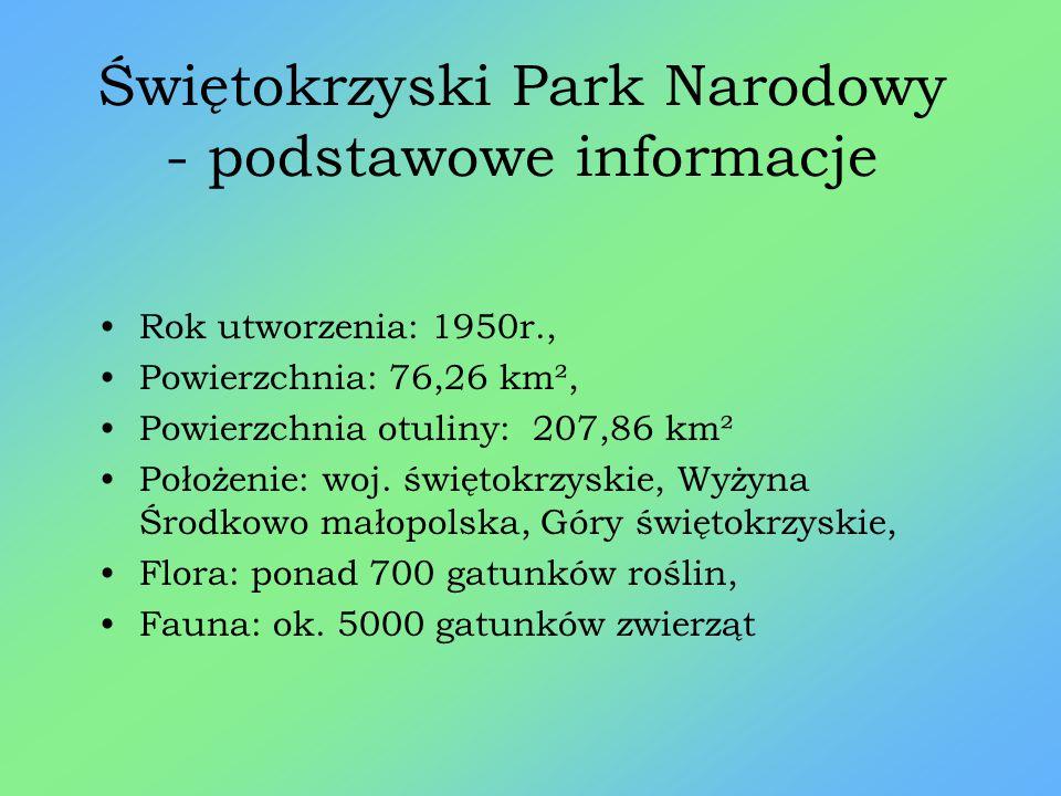 Świętokrzyski Park Narodowy - podstawowe informacje