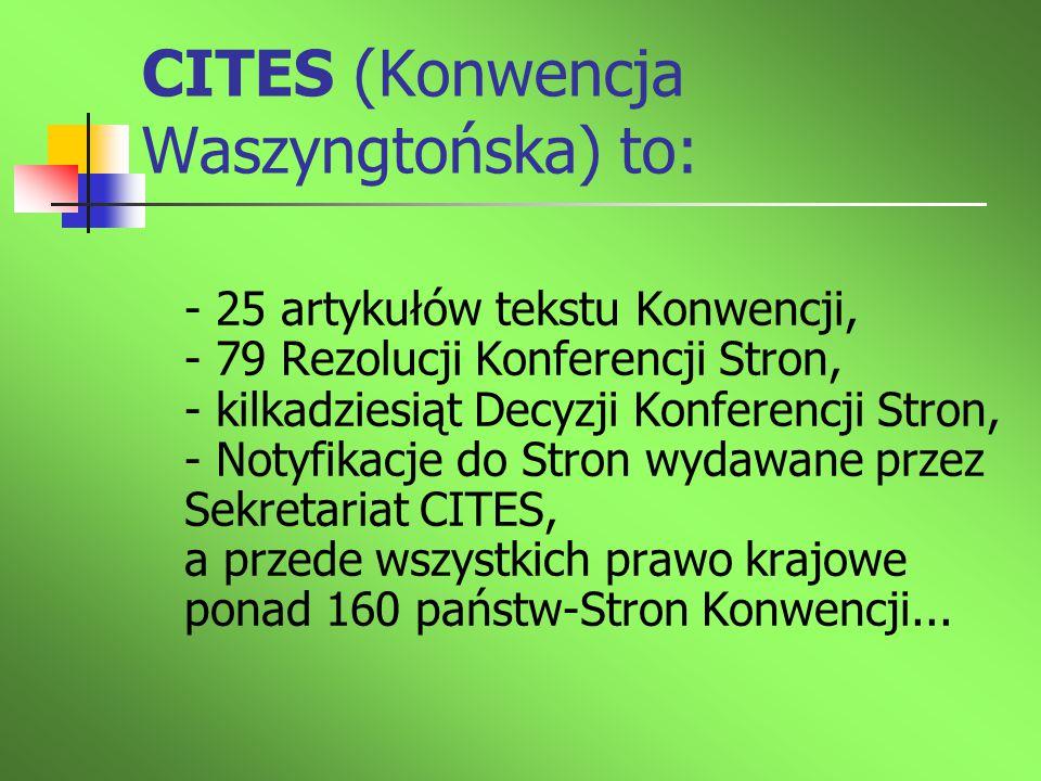 CITES (Konwencja Waszyngtońska) to: