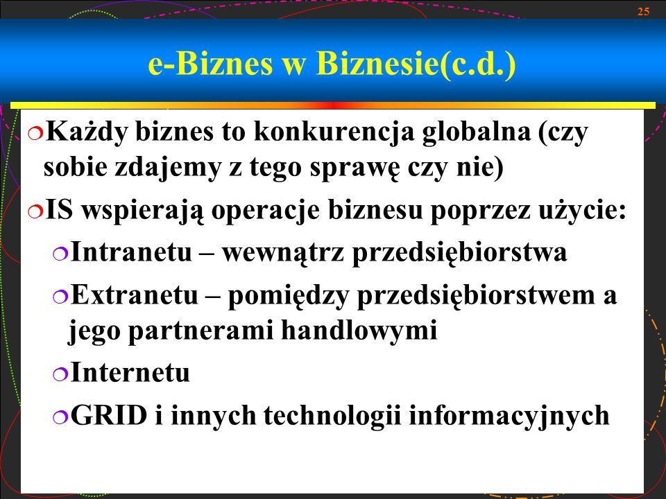e-Biznes w Biznesie(c.d.)