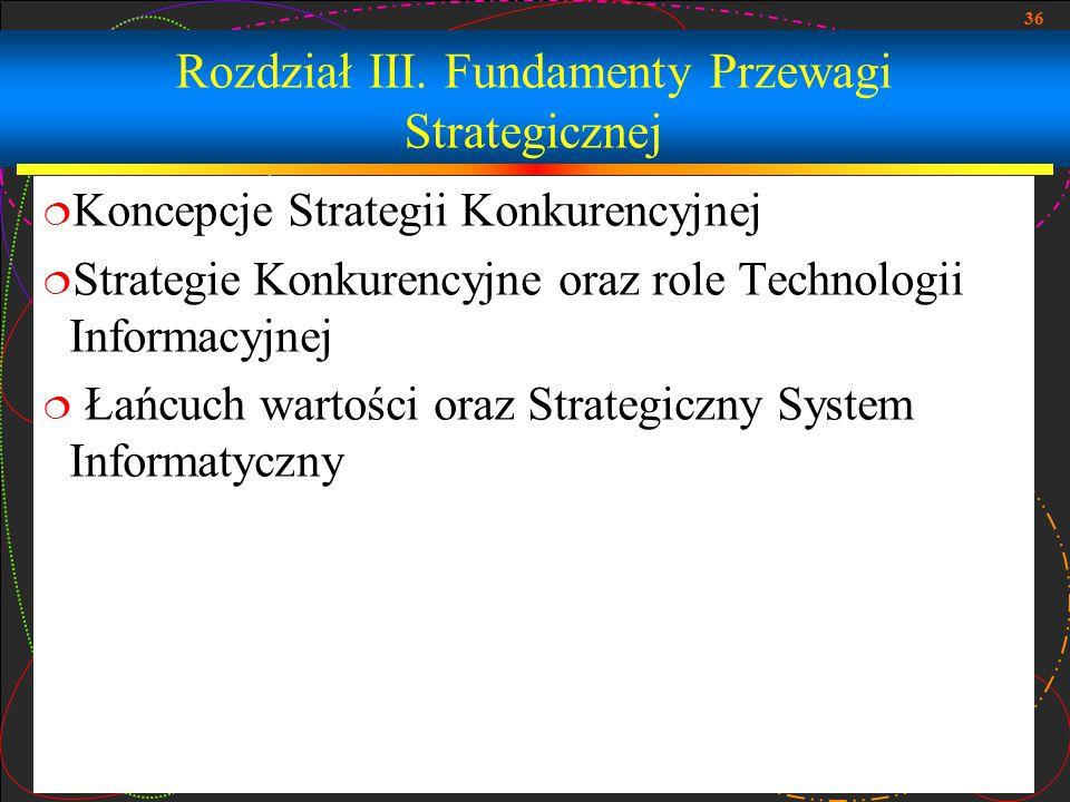 Rozdział III. Fundamenty Przewagi Strategicznej