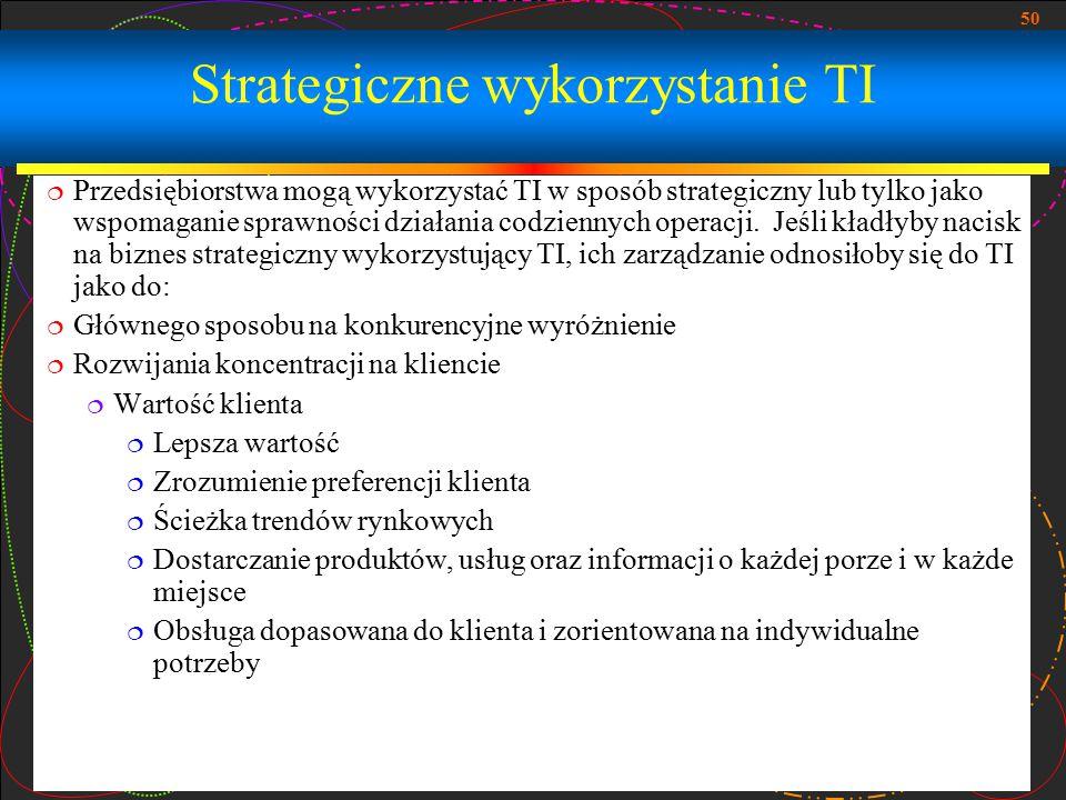 Strategiczne wykorzystanie TI