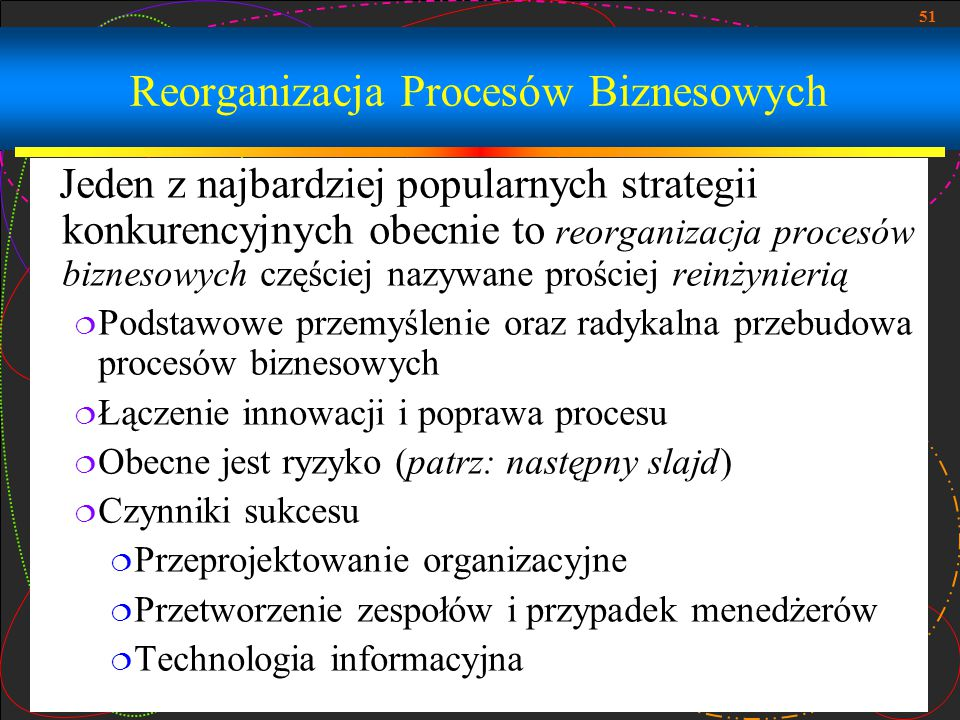 Reorganizacja Procesów Biznesowych