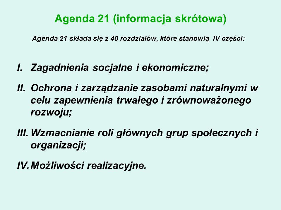 Agenda 21 (informacja skrótowa)